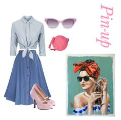 """Pin-up 💟"" by julie-lg ❤ liked on Polyvore featuring Topshop, Pinup Couture, Heidi London and Furla"