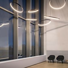 Superloop hc By delta light, led pendant lamp, superloop Collection Hallway Lighting, Office Lighting, Living Room Lighting, Delta Light, Led Chandelier, Pendant Lamp, Lamp Design, Lighting Design, Interior Led Lights