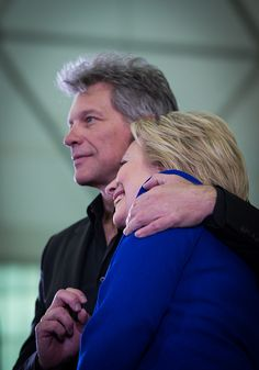 June 1, 2016 - Newark, NJ @HillaryClinton with Bon Jovi