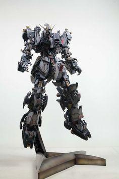 MG New Gundam full hatch grey color hard weathering by Kipok, Nam (Korea)  http://www.signaturediton.com