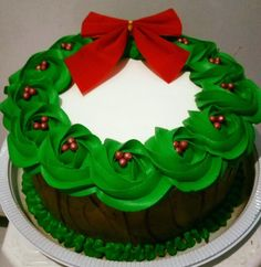 Ideas For Cake Decorating Winter Simple - Cake Decorating Simple Ideen Christmas Cake Designs, Christmas Cake Decorations, Christmas Cupcakes, Christmas Sweets, Christmas Cooking, Holiday Cakes, Christmas Goodies, Holiday Baking, Christmas Desserts