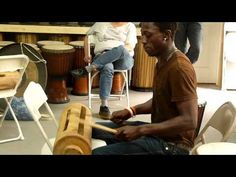 Ibrahima Kolipe Camara, a master drummer from Guinea, West Africa, plays the Krin at the Wula Drum Workshop in NYC.