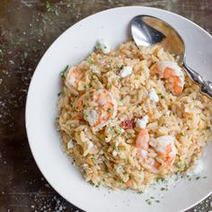 One Pot Lemon Orzo with Shrimp Free up some time in your evening with this One Pot Lemon Orzo with Shrimp. It's nutritious, delicious, and ready in less than a half hour!