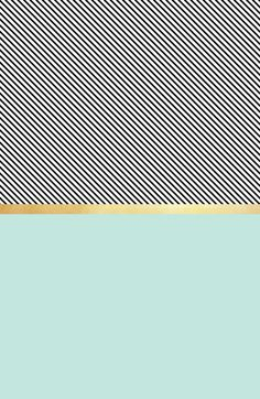 Aqua, Gold and Stripes Art Print