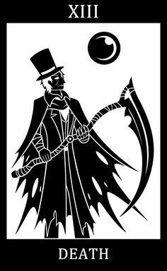 Bloodborne fanart, Bloodborne Tarot Cards.  •          XIII - Death - Gehrman, the First Hunter  Finally back to updating the tarot :3