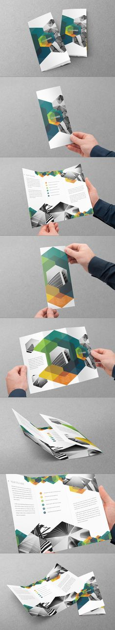 Hexo Trifold Design by Abra Design, via Behance