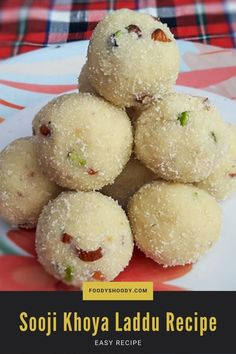 Sooji Khoya Laddu Recipe - Suji Mawa Ladoo Recipe is a delicious and easy to make sweet dish. You can make it in few minutes. These sooji khoya laddu require very few ingredients. You require only khoya from market. Rest all the ingredients are available at home.