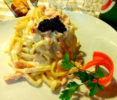 #pastafresca with #salmon / #italianfood