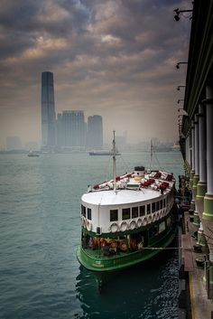 Star Ferry docking, Hong Kong, photograph by Natapong Paopijit. China Travel, New Travel, Travel Around The World, Around The Worlds, Shanghai, Places To Travel, Places To Visit, Macao, Star Ferry
