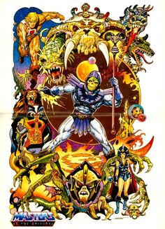 80s Masters of the Universe poster