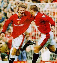 David Beckham and Eric Cantona