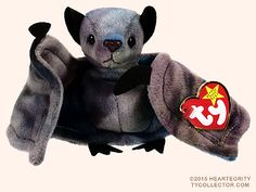 shut the fuck up about beanie baby snail, and beanie baby frog, and this and that. allow me to introduce- BEANIE BABY BATS Beanie Babies Value, Rare Beanie Babies, Original Beanie Babies, Ours Boyds, Beanie Baby Prices, Baby Snail, Ty Dye, Ty Plush, Ty Babies