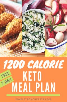 A simple, free 1200 Calorie Keto Meal Plan optimized for rapid weight loss! If you're a keto beginner this is the perfect starting point, complete with recipes, a shopping list, and pre-calculated macros