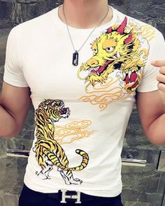 9d0898a0 27 Best dragon t shirt for men images | Chinese style, Large size ...