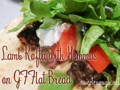 Gluten Free Lamb Kofta wiht Hommus- Quick and easy meal to put together when strapped for time