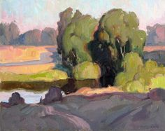 Talbot County Landscape by Eric Bowman Oil ~ 16 x 20