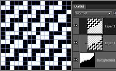 Patterned Double Weave Tie-Up for Sample 1 (designed with Photoshop Elements)