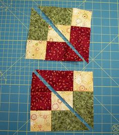 Accidental Quilt block redone 2 Diagonals