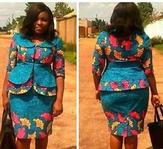 Here are stunning pictures of most latest ankara skirt and blouse styles for the remaining of You have enough to check in choosing which to go. Short African Dresses, Latest African Fashion Dresses, African Print Dresses, African Print Fashion, Africa Fashion, Ankara Skirt And Blouse, African Traditional Dresses, Kitenge, African Attire