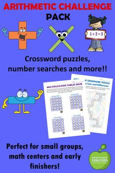 Looking for a creative way for your students to practice their basic operations?  These fun and effective math activities will get students performing multi-step addition, subtraction, multiplication, division problems.    Printable PDF and digital versions are included for blended learning.  This activities are great for quick self-starts, warm-ups, math centers, small groups or early finishers Fun Math Activities, Math Resources, Math Games, 12th Maths, Fact Families, Early Finishers, Blended Learning, Hands On Learning, Arithmetic