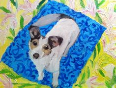 Oil on canvas Picnic Blanket, Outdoor Blanket, Pet Portraits, Oil On Canvas, Pets, Painted Canvas, Oil Paintings, Art Oil, Picnic Quilt