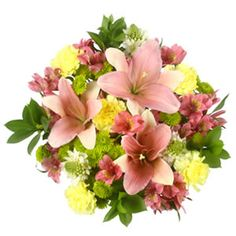 Bulk Green and Pink Flower Bouquet Delivery - Easter Flowers for Church!!!