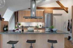 photo de cuisine avec poutre apparente