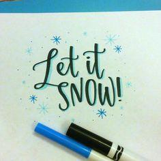 Or let it rain? It's supposed to rain tomorrow  #brushlettered #brushscript #brushlettering #moderncalligraphy #modernlettering #crayolacalligraphy #crayligraphy #lettering #letitsnow