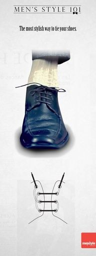 The most stylish way to tie your shoes