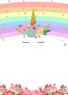 Unicorn Free Printable Birthday Invitation Template Greetings