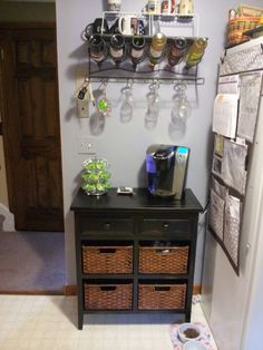 My new wine and coffee bar.  I love it!