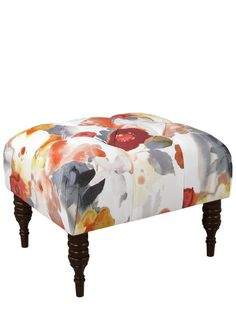 Tufted Ottoman by Gilt Home Custom Collection at Gilt
