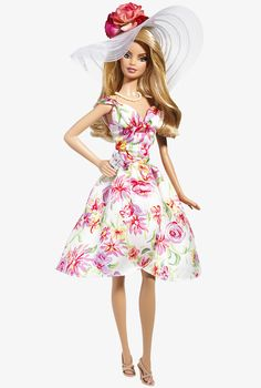 Ladies Barbie dolls, Barbie Doll, Sunhat, Leave The Material PNG Image and Clipart