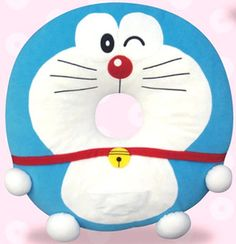 Cushion for the patients of hemorrhoids of Doraemon