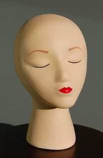 Tutorial on how to paint a foam mannequin head with a smooth complexion, for use as a photo prop or hat stand. Painting Styrofoam, Styrofoam Head, Easy Face Masks, Diy Face Mask, Foam Wigs, Antique Booth Ideas, Craft Show Displays, Display Ideas, Booth Displays