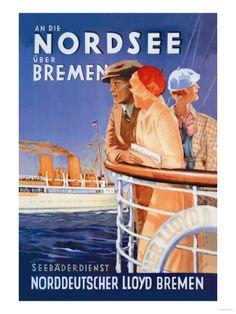 Cruise to the North Sea Via Bremen Premium Poster