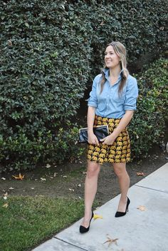 5 Ways To Wear A Chambray Shirt | Glitter Guide