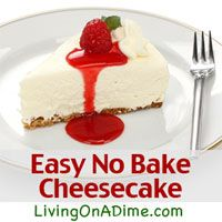 This 4 Ingredient No Bake Cheesecake can be made in just 5 minutes for less than $3!  Click here for this yummy #recipe! http://www.livingonadime.com/italian-french-dip-easy-no-bake-cheesecake/