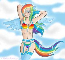 Human naked dash Rainbow