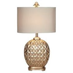Marrakesh Weave Table Lamp in Champagne