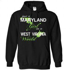 V2-MARYLAND-WESTVIRGINIA GIRL - custom sweatshirts #hoodie casual #burgundy sweater