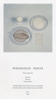 sophie calle chromatic diet