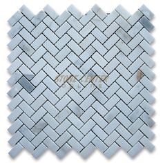 """Calacatta Gold 5/8"""" x 1 1/4"""" Herringbone Mosaic Tile Polished - Marble from Italy"""