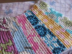Easy quilting technique for any zippered pouch or project where you want some texture.