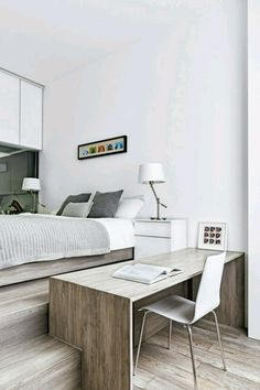 Below are the Small Room Design Ideas You Never Know Before. This post about Small Room Design Ideas You Never Know Before was posted under the Furniture category by our team at March 2019 at pm. Small Bedroom Office, Bedroom Desk, Home Decor Bedroom, Small Office, Small Modern Bedroom, Trendy Bedroom, Bed Room, Tiny Bedroom Design, Design Living Room