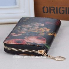 Floral Oil Painting Clutch
