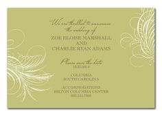 Zoe Style Sage - Corporate Invitations by Invitation Consultants. (Item # IC-GD-JB4 )