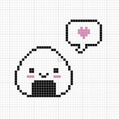 Happy Onigiri Cross Stitch Pattern by passionfyre.deviantart.com on @deviantART kawaii cross stitch