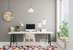 Panellakás felújítás - 53 nm-es panel felújítás előtt és után! - Lakások - Otthon Cores Home Office, Home Office Colors, Home Office Decor, Office Desk, Home Decor, Office Paint, Apartment Office, Office Setup, Decor Room