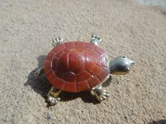 Vintage Unique Turtle Pendant Pin Brooch Small by ShoppingLounge